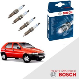 Kit Jogo Velas Orig Bosch Palio G1 1.6 16v Fiasa Gas 96-03