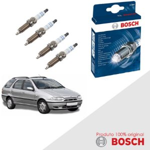 Kit Jogo Velas Bosch Palio Weekend G1 1.6 8v Sevel Gas 98-00