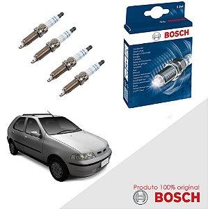 Kit Jogo Velas Orig Bosch Palio G2 1.0 8v Fire Flex 05-09
