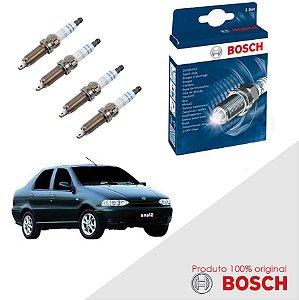 Kit Jogo Velas Orig Bosch Siena G1 1.3 16v Fire Gas 00-03