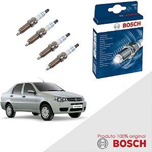 Kit Jogo Velas Original Bosch Siena G3 1.4 8v Fire Gas 07-12