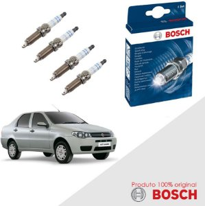 Kit Jogo Velas Orig Bosch Siena G3 1.6 16v E.torQ Flex 10-12