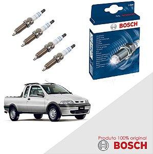 Kit Jogo Velas Bosch Strada G1 1.6 16v Fiasa Step Gas 98-03