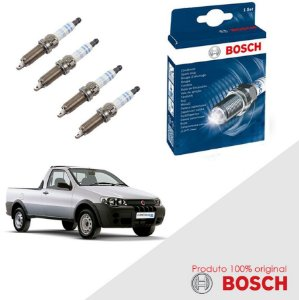 Kit Jogo Velas Orig Bosch Strada G3 1.4 8v Fire Flex 08-12