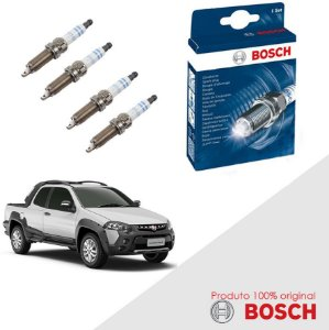 Kit Jogo Velas Bosch Strada G4 1.8 16v E.torQ Flex 12-14