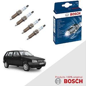 Kit Jogo Velas Bosch Uno G1 Mille 1.0 8v Fiasa SPI Gas 95-01