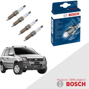 Kit Jogo Velas Bosch Ecosport 1.6 8v Zetec Rocam Flex 07-10