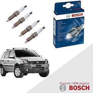 Kit Jogo Velas Orig Bosch Ecosport 1.6 8v Zetec Gas 03-07