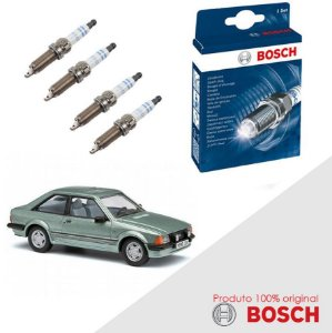 Kit Jogo Velas Original Bosch Escort 1.8 8v AP1800 Gas 89-92