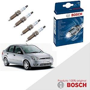 Kit Jogo Velas Bosch Fiesta G3 1.6 8v Zetec Rocam Flex 04-10