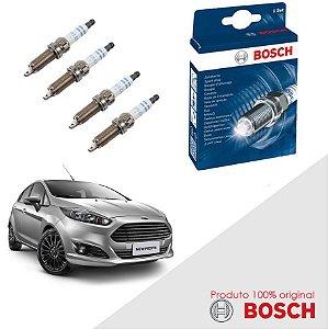Kit Jogo Velas Bosch New Fiesta 1.6 16v Sigma Flex 10-13