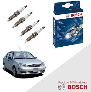 Kit Jogo Velas Original Bosch Focus 1.6 8V Zetec Gas 03-09
