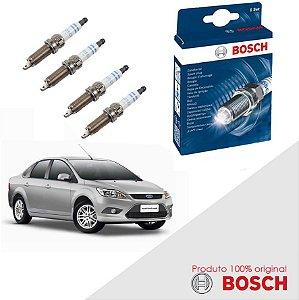 Kit Jogo Velas Orig Bosch Focus G2 1.6 16v Sigma Flex 10-13