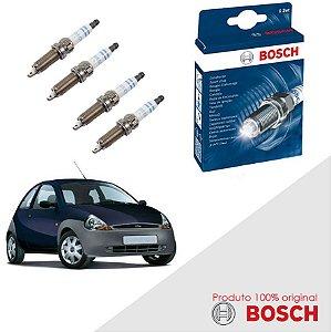 Kit Jogo Velas Original Bosch Ka G1 1.0 8v Zetec Gas 99-07