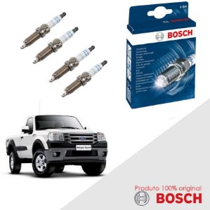 Kit Jogo Velas Original Bosch Ranger 2.3 16v DOHC Gas 01-12