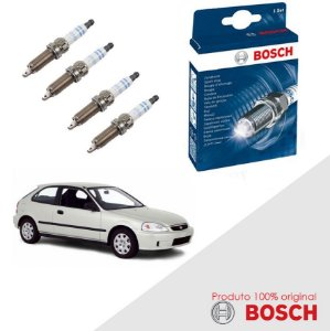 Kit Jogo Velas Original Bosch Civic 1.6 16V  Gas 97-00