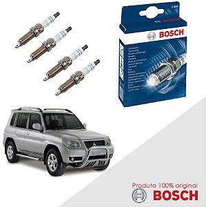 Kit Jogo Velas Original Bosch Pajero TR4 2.0 16V Gas 07-15