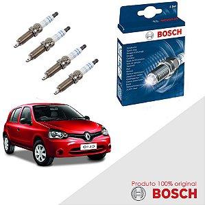 Kit Jogo Velas Original Bosch Clio 1.0 G2 8v D7D Gas 99-06
