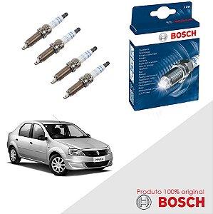 Kit Jogo Velas Original Bosch Logan 1.0 16v D4D Flex 07-15
