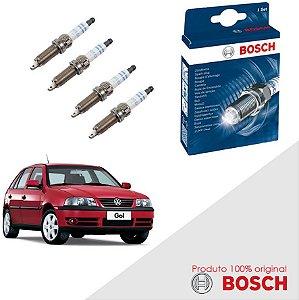 Kit Jogo Velas Original Bosch Gol G3 1.0 8v EA111 Flex 05-06