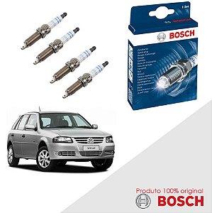 Kit Jogo Velas Original Bosch Gol G4 1.0 8v EA111 Flex 06-13