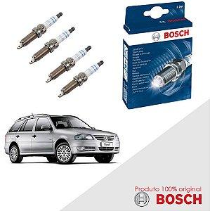 Kit Jogo Velas Original Bosch Parati G4 1.6 8v AP Flex 07-08