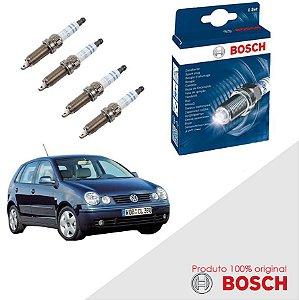 Kit Jogo Velas Original Bosch Polo 1.6 8v EA111 Gas 02-06