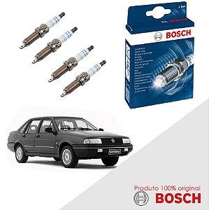Kit Jogo Velas Orig Bosch Santana 1.8 8v AP1800 Gas 86-94