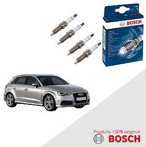 Jogo Velas Original Bosch A3 Sportback 1.6 8v MW6 Gas 05-12
