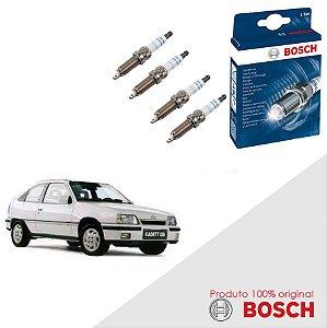Jogo Velas Original Bosch Kadett 2.0 8v SOHC EFI  Gas 91-97