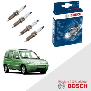 Kit Jogo Velas Original Bosch Berlingo 1.6 16v  Gas 05-03