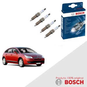 Kit Jogo Velas Original Bosch C4 1.6 16v Flex 09-00