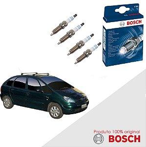 Jogo Velas Original Bosch Xsara Picasso 1.6 16v Gas 05-12