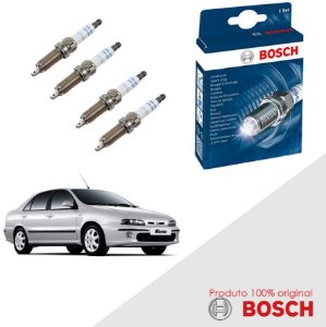 Jogo Velas Original Bosch Marea Weekend 1.8 16v  Gas 99-07