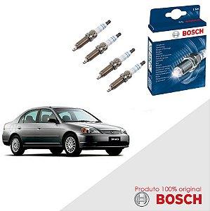 Kit Jogo Velas Original Bosch Civic 1.7 16V  Gas 01-06