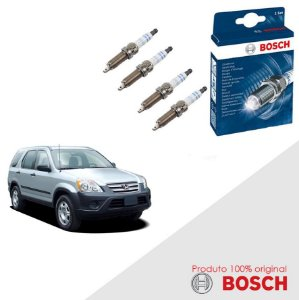 Kit Jogo Velas Original Bosch CR-V 2.0 16v Gas 99-06