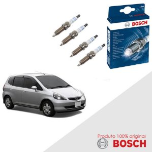 Kit Jogo Velas Original Bosch Fit 1.4 8v i-DSI Gas 03-08