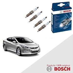 Kit Jogo Velas Original Bosch Elantra 1.8 16V  Gas 11-16