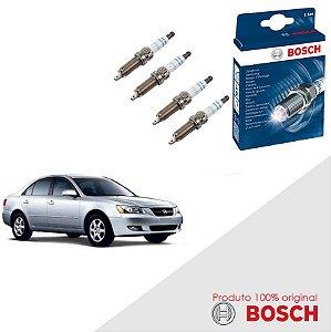 Jogo Velas Original Bosch Sonata 1.8 8v New Sirius Gas 93-98
