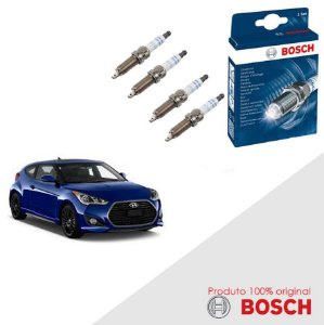 Jogo Velas Orig Bosch Veloster 1.6. 16v DOHC CVVT Gas 11-16