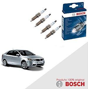 Kit Jogo Velas Original Bosch Cerato 1.6 16v Gas 04-09
