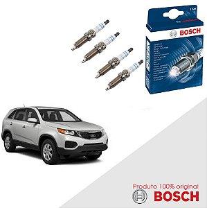 Kit Jogo Velas Original Bosch Sorento 2.4 16v Gas 09-16