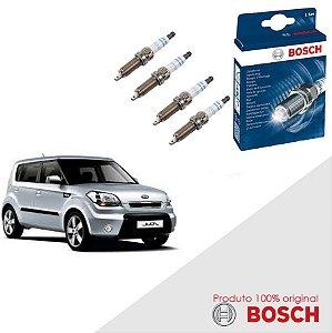 Jogo Velas Original Bosch Soul 1.6 16v Gamma 1600 Gas 09-11
