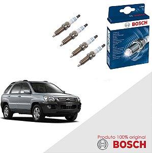 Kit Jogo Velas Original Bosch Sportage 2.0 16v Gas 04-10