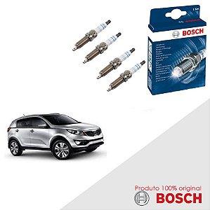Jogo Velas Orig Bosch Sportage 2.0 16v  Theta II Gas 10-16