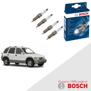 Kit Jogo Velas Original Bosch Sportage 2.0 8v FED Gas 98-03