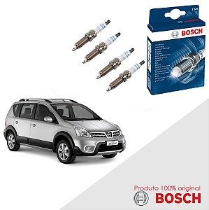 Kit Jogo Velas Original Bosch Livina 1.6 16v Flex 09-14