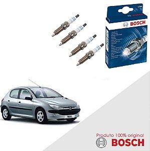 Kit Jogo Velas Original Bosch 206 1.4 8v Gas 04-09