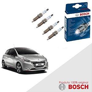 Kit Jogo Velas Original Bosch 208 1.5 8v Flex 13-16