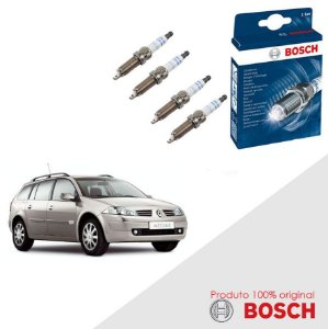 Jogo Velas Bosch Megane G2 Grandtour  1.6 16v Gas/Flex 06-12